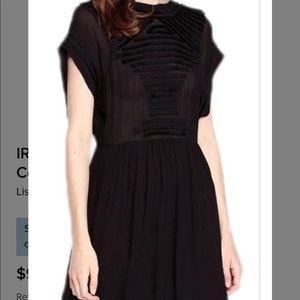 IRO BLACK DAJANA DRESS Sz 40